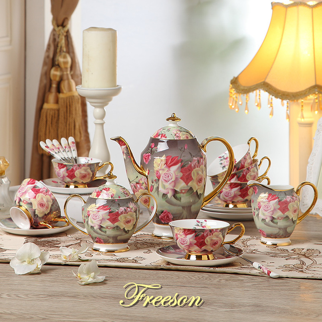 Europe Rose Bone Tea Sets
