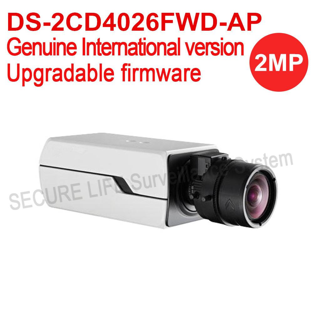 DS-2CD4026FWD-AP English version 2MP ultra-Low Light Smart cctv ip Camera POE, Auto Back Focus, P-Iris without lens H.264+ двигатель змз 4026 10