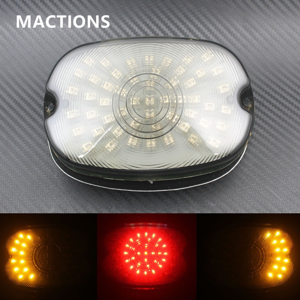 Motorcycle Tail Turn Signals Light Smoke For Harley