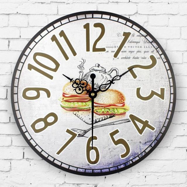 € 22.12 |Cocina reloj de pared moderno diseño a prueba de agua de la cara  del reloj decoración del hogar del reloj de pared vintage reloj de pared ...