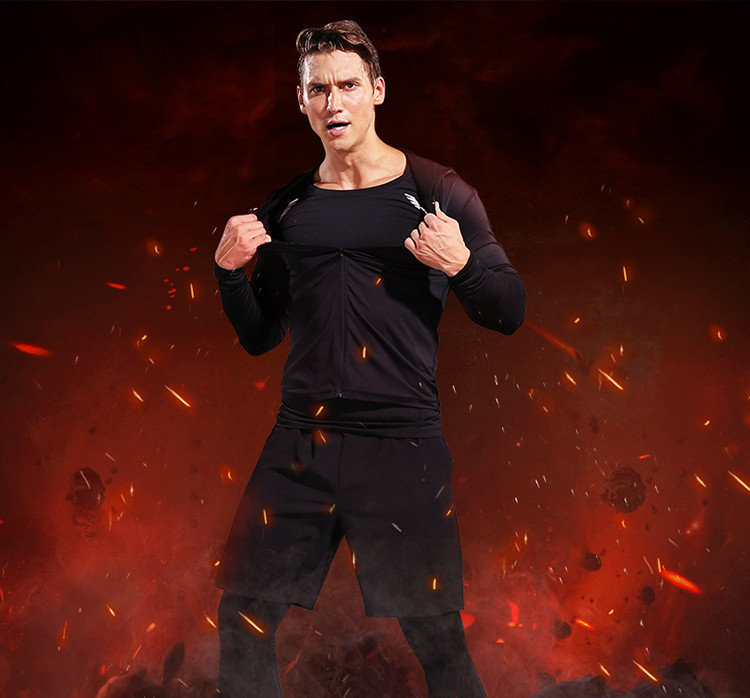 2017 Winter Outdoor Quick Dry Running Sets Men Compression Sports Suits Jogging Basketball Tights Clothes Gym Fitness Sportswear - 6