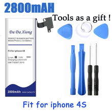 Kapasitas tinggi 2800 baterai mAh Baterai Untuk Apple iPhone 4 S untuk  iphone4S dengan peralatan mesin 4bfd71201c