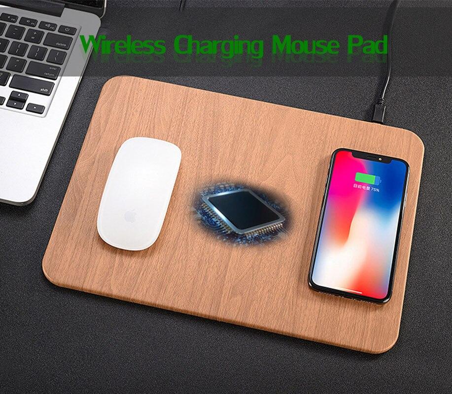 QI Беспроводное зарядное устройство коврик для мыши кожаный материал для IPhone X 10 8/8 плюс Samsung Galaxy S8 плюс Примечание 8
