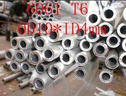 OD10 * ID4mm 10*3mm 6061 T6 Al alumínio espessura da parede do tubo da tubulação do perfil da indústria de precisão