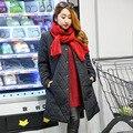De gran tamaño mujer nuevo invierno cálido en la gruesa larga Mianfu 300 libras de grasa mm Coreano chaqueta de la capa 277