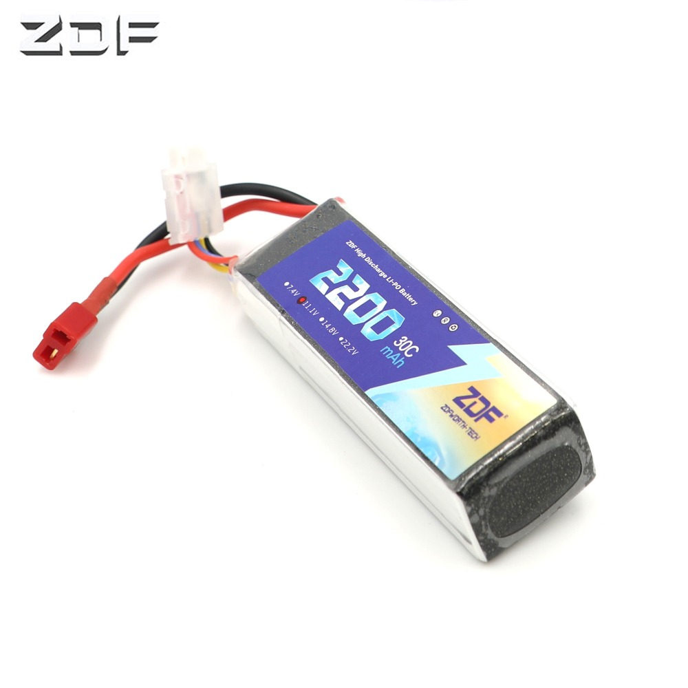 ZDF <font><b>Lipo</b></font> Battery <font><b>11.1V</b></font> <font><b>2200mAh</b></font> 30C for RC Trex 450 Fixed-wing Helicopter Quadcopter Airplane Car <font><b>Lipo</b></font> 3s Bateria image
