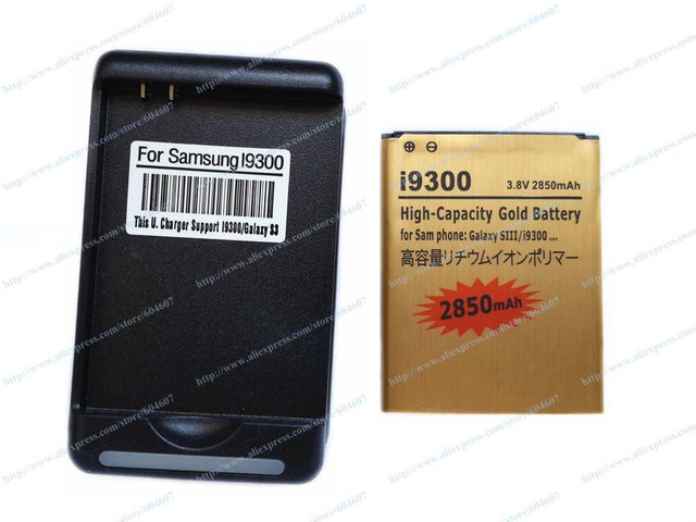 1pcs New EB-L1G6LLU Battery+Wall Charger For Samsung Galaxy S3 I9300 I9305 T999 I747 I535 L760 Phone