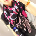 "New Women Hot Sale Cashmere Scarf 55"" 140cm Leopard Print Pattern Kerchief Fashion Style Keep Warm High Quality BY1610206"