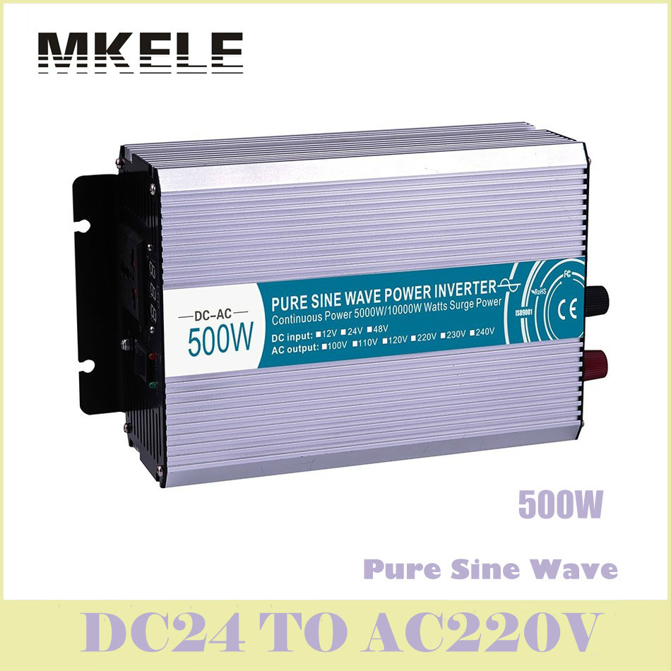цена на High Quality MKP500-242 Pure Sine Wave 500w Power Bright 24vdc 220vac Inversor Voltage Converter Solar Inverter China