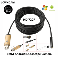 New Endoscope 8mm PC USB Android Endoscopic HD 720P 10M USB Endoscope Camera Tube Inspection