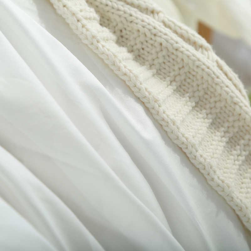 القطن الخالص 2 قطع وسادة حالة 70*70 50*70 50*75 الصلبة وسادة وسادة الزخرفية الغلاف الفراش ل فندق الزفاف رمادي أبيض