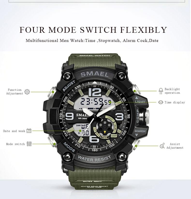 super legal quartzo esportes relógios marca de