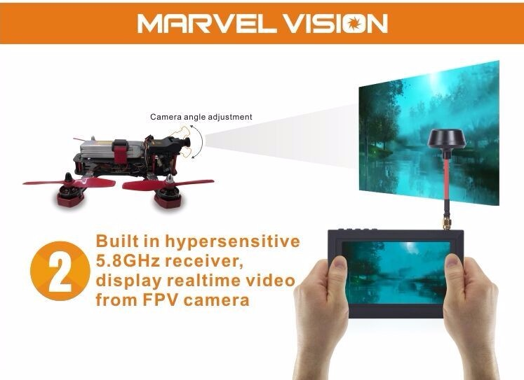 FX Marvel Vision FPV Goggles 4.3 inch 5.8G 32CH Auto Search Raceband Video Glasses for QAV250 FPV Racing Quadcopter