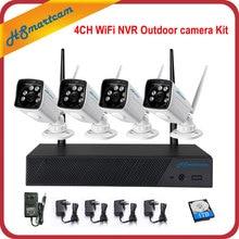 4CH Wireless 720P CCTV System WiFi NVR Home Security System Powerful Wireless NVR IP Camera Bullet CCTV Camera Surveillance Kit