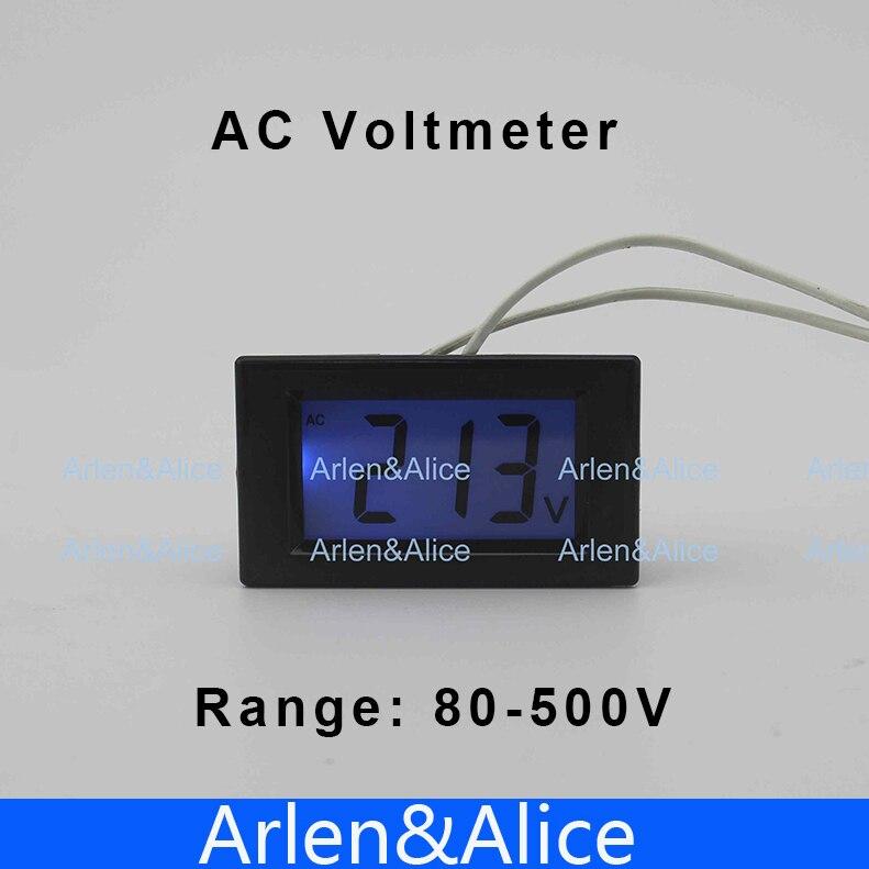 D85 LCD display Voltage meter voltmeter range AC 80-500V Panel Monitor blue backlight