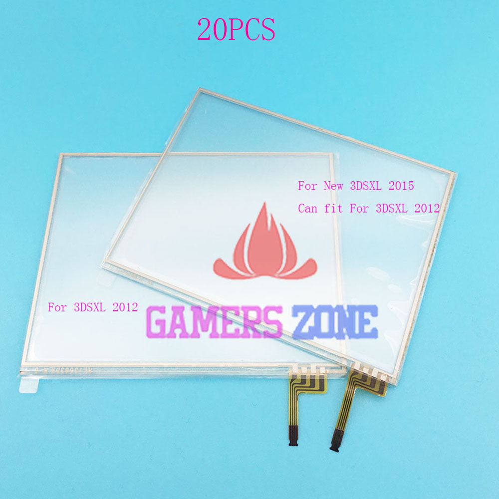 20PCS For New 3DS XL Touch Screen Digitizer Bottom Glass Replacement Parts For Nintendo 3DS XL
