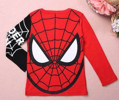 Cool Children Clothes Baby Kids Boys Spiderman Pullover Tops negros / - Ropa de ninos - foto 2