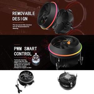 Image 5 - Dark flash الظل PWM وحدة المعالجة المركزية برودة هالة مزامنة التبريد مزدوج حلقة LED مروحة 100 مللي متر 3pin + 4pin المبرد ل LGA 1156/1155/775 TDP 280 واط