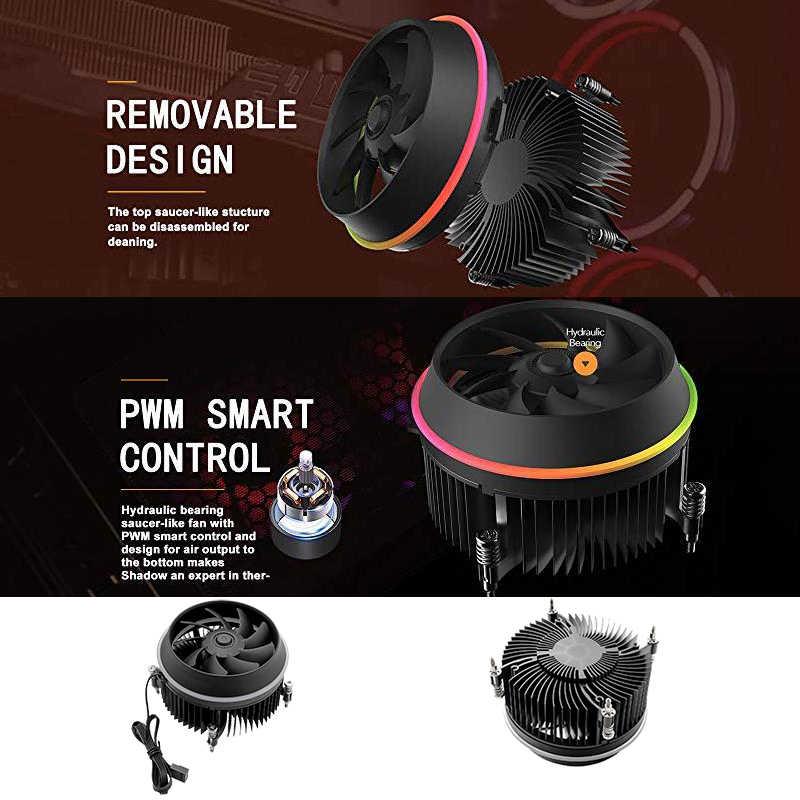 Darkflash sombra pwm cpu cooler aura sync tdp 280 w anel duplo de refrigeração led ventilador refrigerador do radiador para intel lga 1151/1150/1155