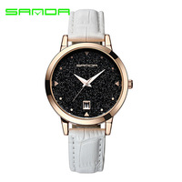 Design Star Dial Ladies Dress Watches Luxury Women's Fashion Casual Party Watch Women High Quality Black Quartz Famale Clock