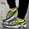 Hot 2016 Nueva Moda hombres Zapatos Casual Hombres Zapatos de Aire Respirable Zapatos Para Caminar Zapatillas Hombre Macho Con Zapato Plano Tamaño 39-44