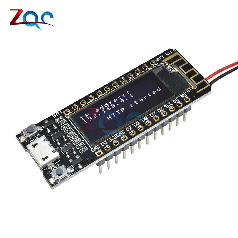 US $5 19 20% OFF|ESP8266 WIFI 0 91 inch OLED CP2014 32Mb Flash Module  Internet of things Board PCB NodeMcu for Arduino IOT Development Board-in
