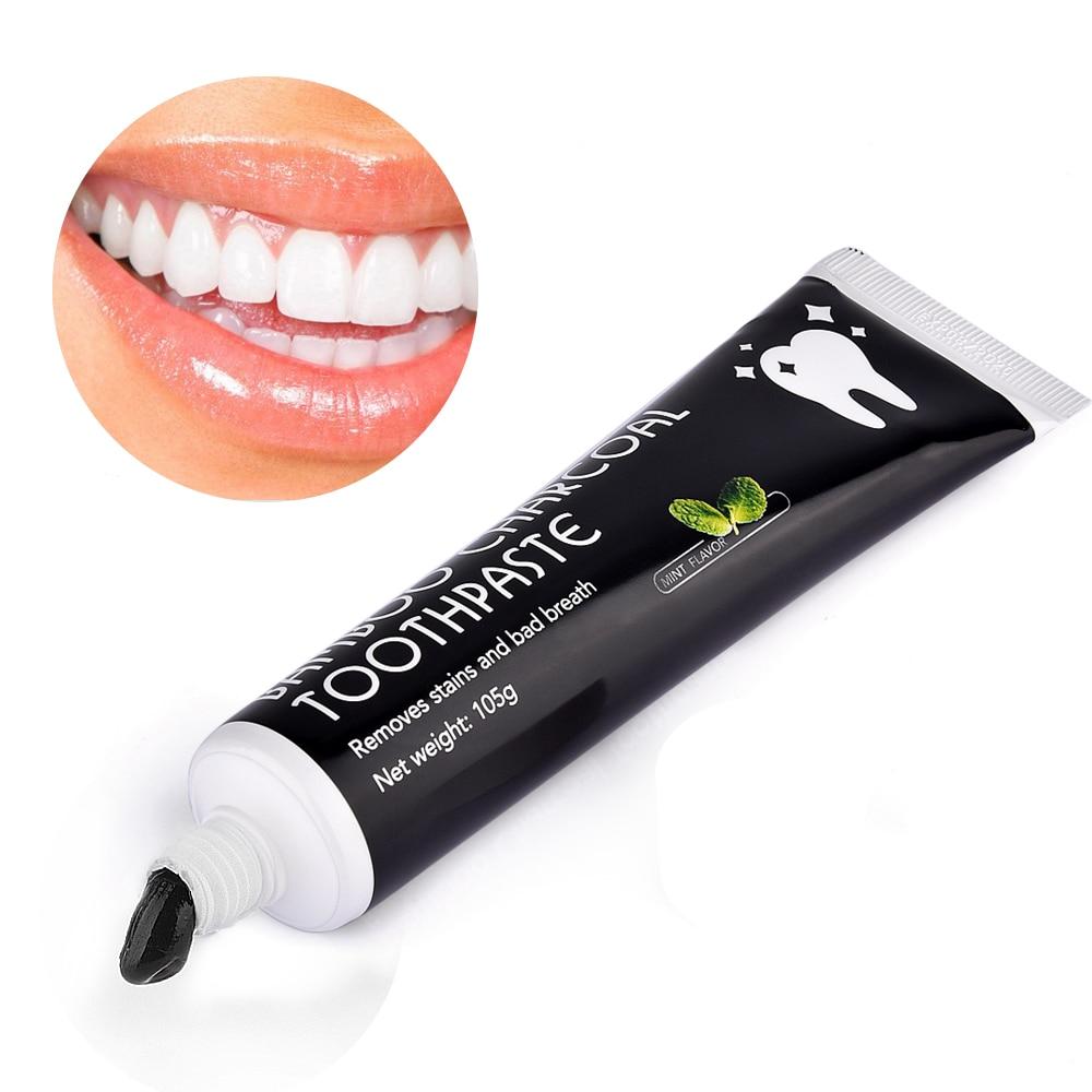 Зубы Отбеливающий уход за зубами бамбука натурального активированный уголь черный гигиена полости рта зубной пасты здоровье зубов