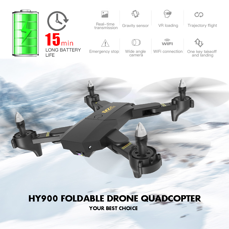 HY900 Dron Quadrocopter With Camera Drone Juguetes Headless Drones with Camera HD Trajectory Flight FPV Quadcopter