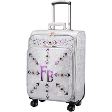 Чемодан женский небольшой свежий дорожная сумка маленькая 20 24 Чемодан поле пароля чемодан багаж мешок, мода PU путешествия Чемодан