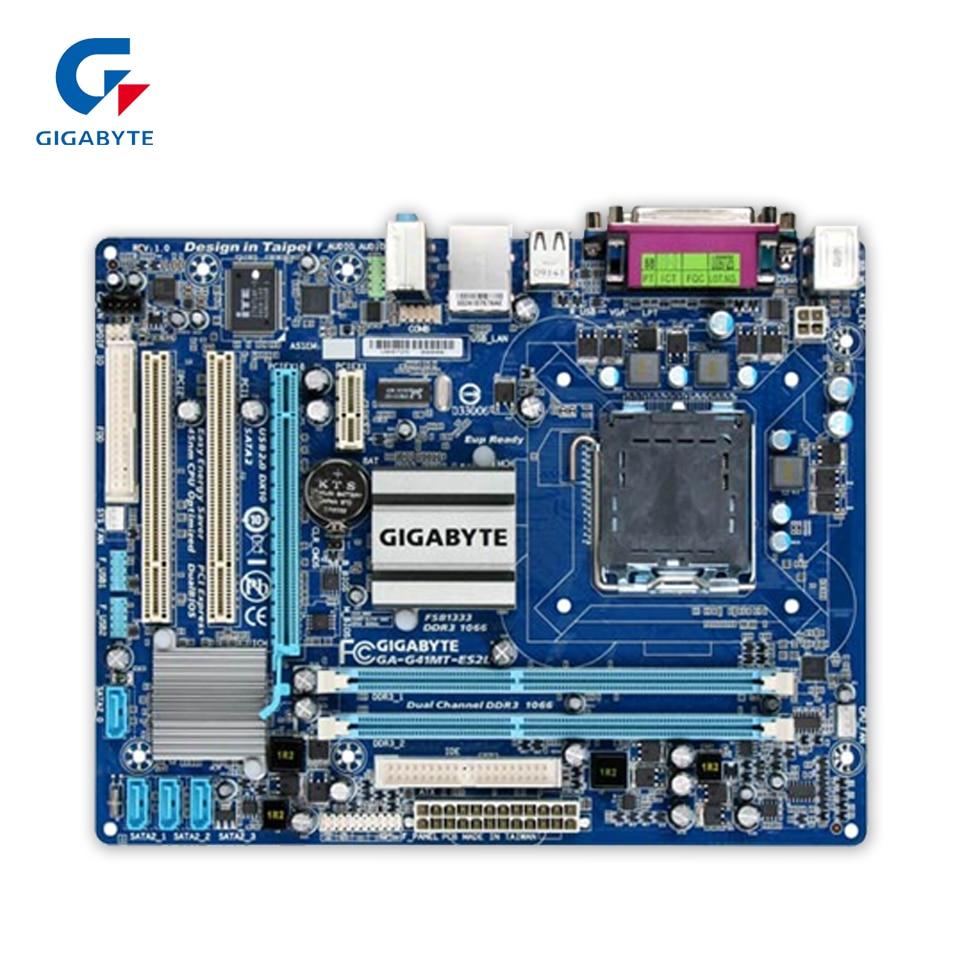 все цены на Gigabyte GA-G41M-ES2L Original Used Desktop Motherboard G41M-ES2L G41 LGA 775 DDR2 8G SATA2 USB2.0 Micro-ATX онлайн