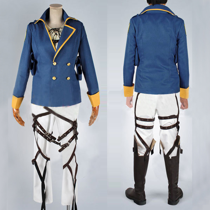 Attack on Titan: The Wings of Counterattack Eren Jaeger Cospaly Uniform Men's Halloween Costumes Jacket Coat Custom Made