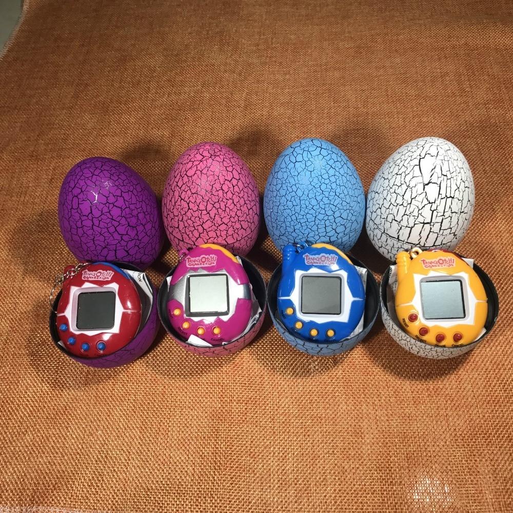 20pcs Dinosaur egg Tumbler Virtual Cyber Digital Pets Electronic Digital Retro Funny Toy Handheld Game pet