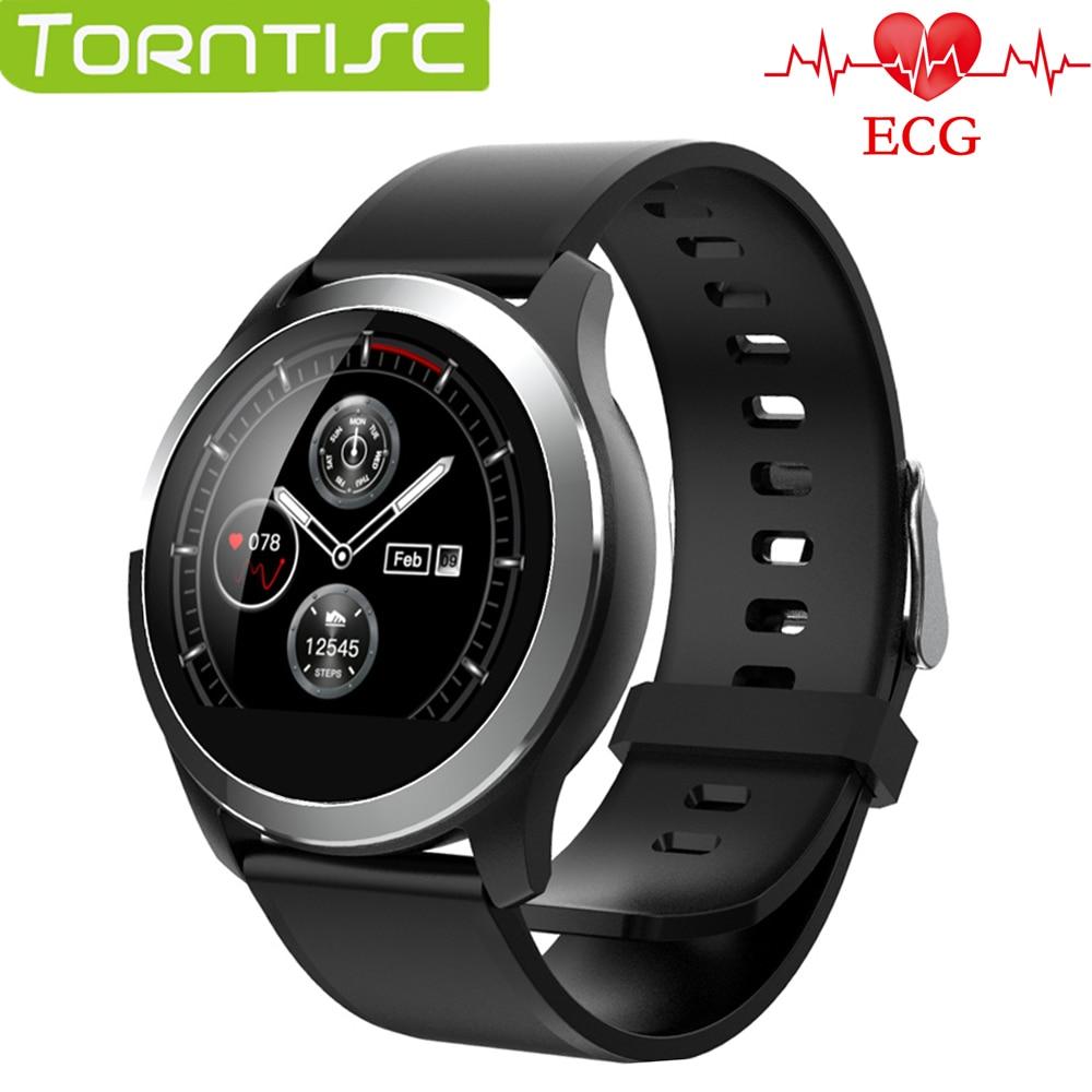 Torntisc Single Touch Screen ECG PPG 3 Chips Smart Watch Men Blood Pressure Oxygen Smart Bracelet