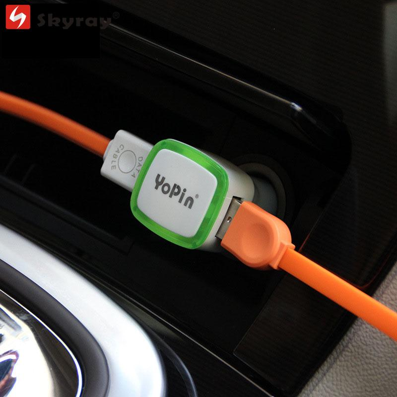 Dual USB Car Charger 5V 2.1A Quick Charge Green LED Light Mobile Phone Adapter for IPhone Samsung Xiaomi IPad Universal