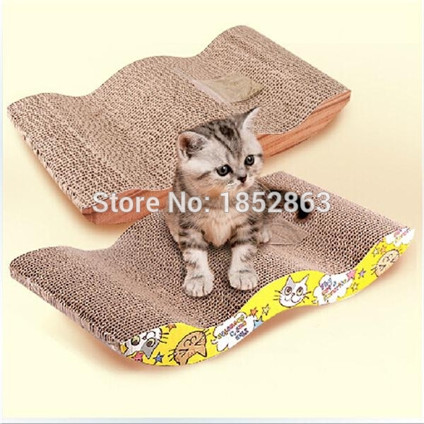 M Shaped Paper Mill Scratching Toy Box Pet Cat Scratch Board Protect Paw  Furniture