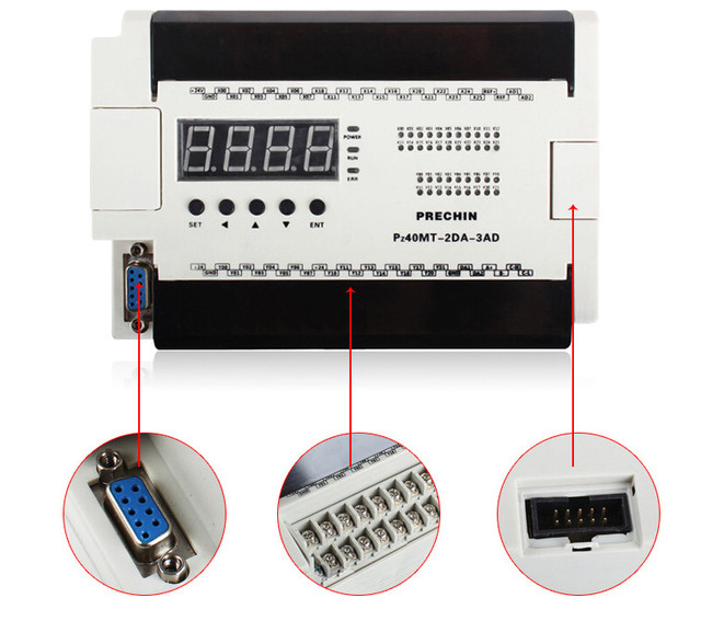 Free Ship 40MT-2DA-3AD China PLC industrial control board programmable control 40MT digital tube|LED|AD/DA|Stepping|encoder PLC