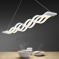 Modern LED Pendant Lights Wave Hanging Lamp Dining Room Living Room Pendant Light 110V 220V Luminaire