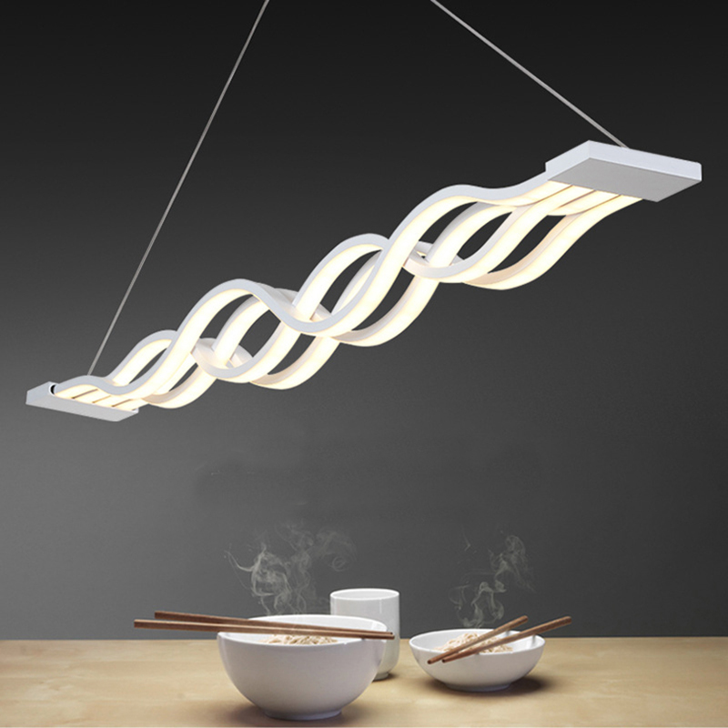 Modern LED Pendant Lights Wave Hanging Lamp Dining Room Living Room Pendant Light 110V 220V Luminaire