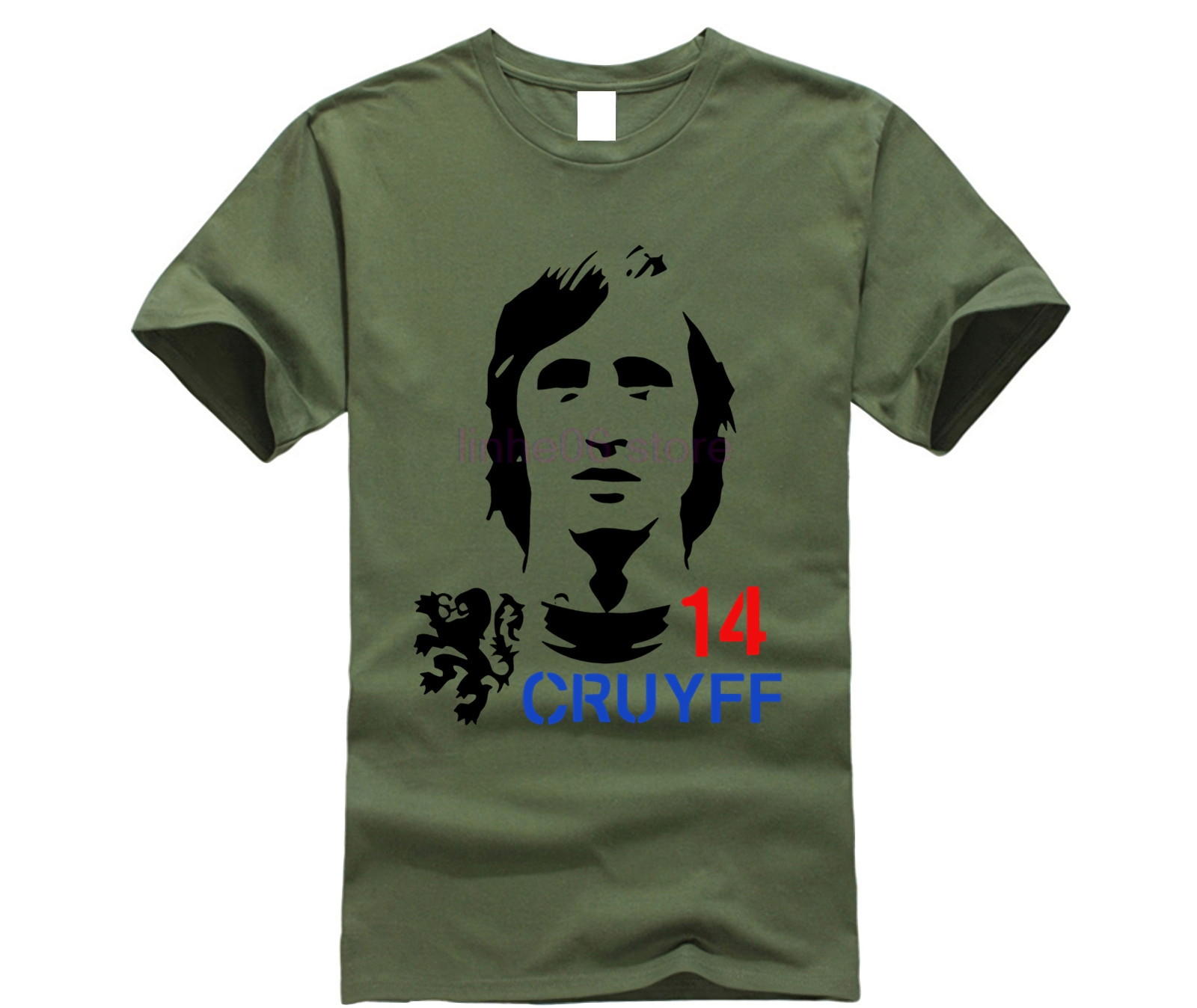 funny men t shirt Hendrik Johannes Cruyff Holland Nederland Ajax The Godfather 100% cotton t shirt