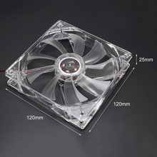 купить CPU Cooler Cooling Fan Five Colors Light PC Computer Fans Quad 4 LED Light 120mm Case Fan Mod Quiet Molex Connector по цене 128.69 рублей