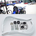 "Branco bicicleta da sujeira da motocicleta Motorcross mão guardas Fit EXC CRF YZF KXF KTM 7/8 "" 22 mm ou 1 - 1/8 28 mm Fat Bar handguards guidão"