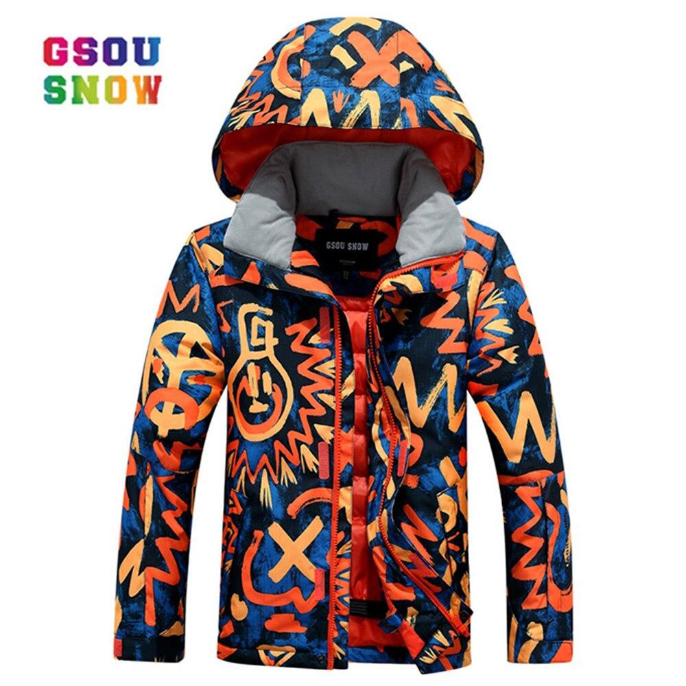 Gsou Snow Winter Ski For Boys Kids Waterproof Warm Snowboarding Ski Jacket Snowboard Outdoor Skiing Snow Wear Windproof цена