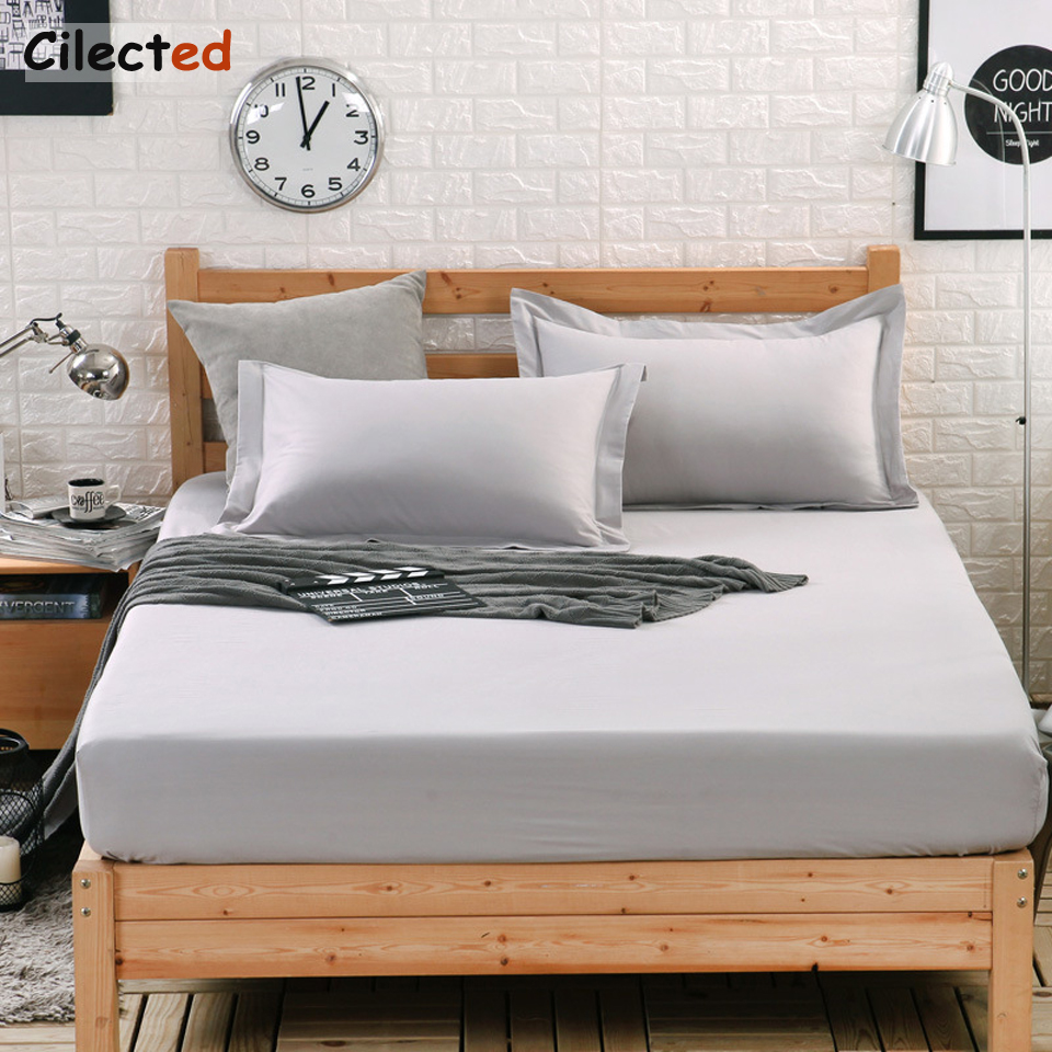 Cilected 100% Pure Cotton Bedding One-piece 1.5m1.8m2.0m Bedspread Child Adult Mattress Cover Non-slip comfort Bed linen hotsal