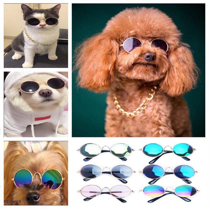 Puppy Small Dogs Cat Sunglasses Pet Glasses Teddy Funny Headdress Used To Take Photography