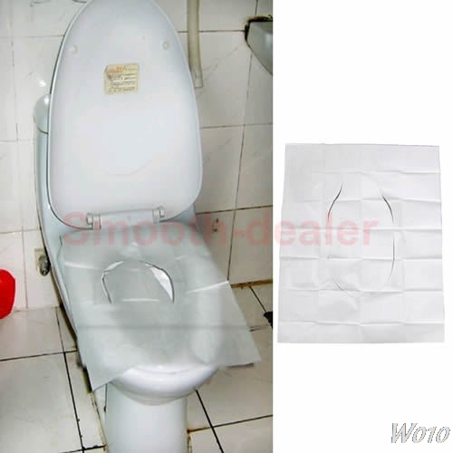 5 Pack (50Pcs/lot) Disposable Paper Toilet Seat Covers For Camping Travel Selling-W110