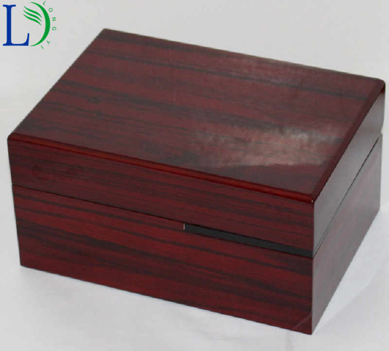 Wooden Storage Box Gift Packaging Case Wood Watch Box for Wristwatches Jewellery Small Gadgets Gift Red Color
