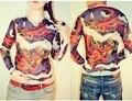 Free Shippping 2016 Nova Moda Malha Do Punk Tatuagem Camisetas Mens