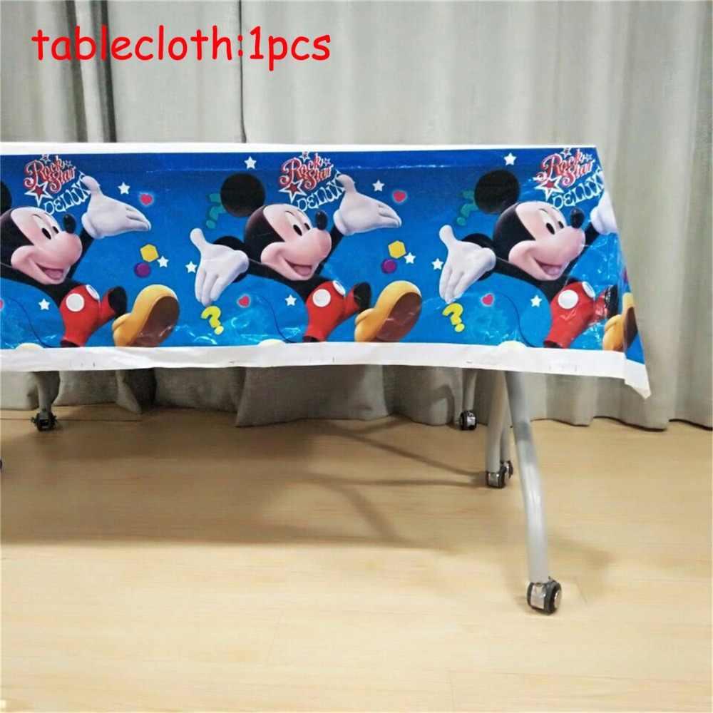 82 pçs/set Disney Mickey Mouse Theme Guardanapos de Banho Do Bebê Crianças Festa de Aniversário Decoração Set Presente das Crianças Fontes Do Partido