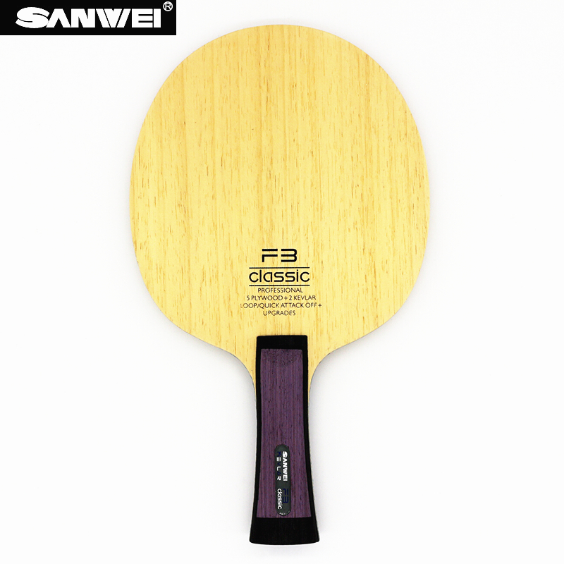 SANWEI FC3 Table tennis blade 5 plywood 2 kevlar quick attack loop professional OFF ping pong