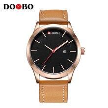 7858c1ef2f3 DOOBO Marca de Luxo Relogio masculino Data de Couro Relógio Ocasional Dos  Homens Do Esporte Relógios de Quartzo Relógio de Pulso.